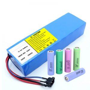 باتری لیتیوم 18650 60V 12AH باتری اسکوتر قابل شارژ لیتیوم یونی