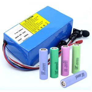 باتری لیتیوم 18650 48V 12AH 48V 500W باتری دوچرخه برقی با BMS