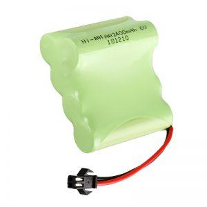 باتری قابل شارژ NiMH AA2400 6V ابزارهای قابل شارژ اسباب بازی های برقی پک باتری