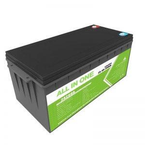 باتری طولانی مدت قابل شارژ باتری پشتیبان 12.8v 200ah LiFePO4 برای گلف
