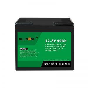 باتری 12.8V 40Ah LiFePO4 جایگزین اسید سرب لیتیوم یون 12V 40Ah