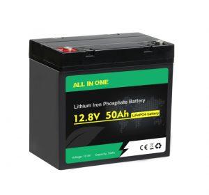 ALL IN ONE Lifepo4 باتری چرخه عمیق 12v 50ah