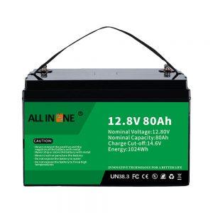 محبوب ترین جایگزین اسید سرب Solar RV Marine LiFePO4 12V 80Ah باتری لیتیوم
