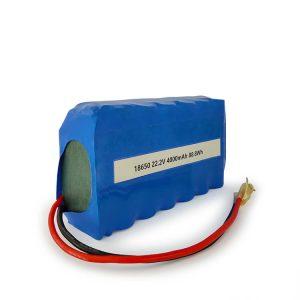 باتری لیتیوم یون ICR18650 6S2P قابل شارژ 22.2v 4000mAh باتری لیتیوم یون