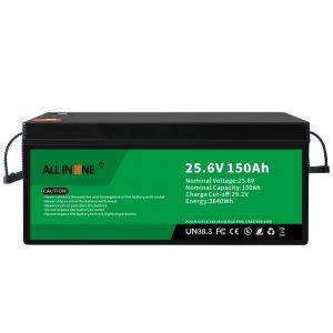 25.6V 150Ah LiFePO4 سرب جایگزین لیتیوم یون باتری 24V 150Ah