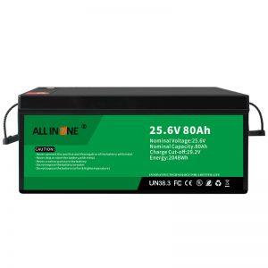 25.6V 80Ah ایمنی/عمر طولانی LFP باتری برای RV/Caravan/UPS/Golf Cart 24V 80Ah