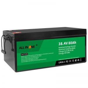 38.4V 80Ah LiFePO4 جایگزین اسید سرب لیتیوم یون باتری ، 36V 80Ah