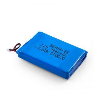 باتری قابل شارژ LiPO 523450 3.7V 1000mAH / 7.4V 1000mAH / 3.7V 2000mAH