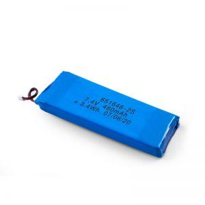باتری قابل شارژ LiPO 651648 3.7V 460mAh / 3.7V 920mAH / 7.4V 460mAH