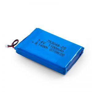 باتری قابل شارژ LiPO 753048 3.7V 1100mAh / 7.4V 1100mAH / 3.7V 2200mAH