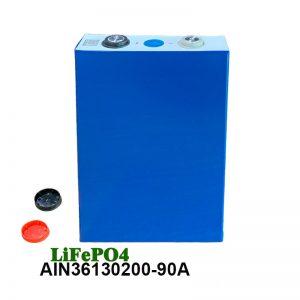 باتری قابل شارژ سلول LiFePO4 Prismatic 3.2V 90AH lifepo4 برای ویلچرهای برقی برای ابزارهای قدرت ماشین
