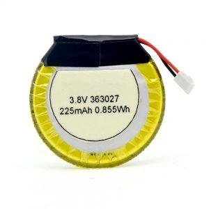 باتری سفارشی LiPO 363027 3.7V 225mAH