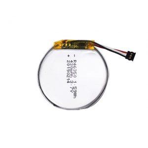 باتری سفارشی LiPO 46350 3.7V 350mAH باتری ساعت مچی هوشمند 46350 باتری لیتیوم پلیمر دور تخت کوچک برای اسباب بازی
